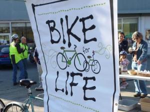 Bike for Life big poster